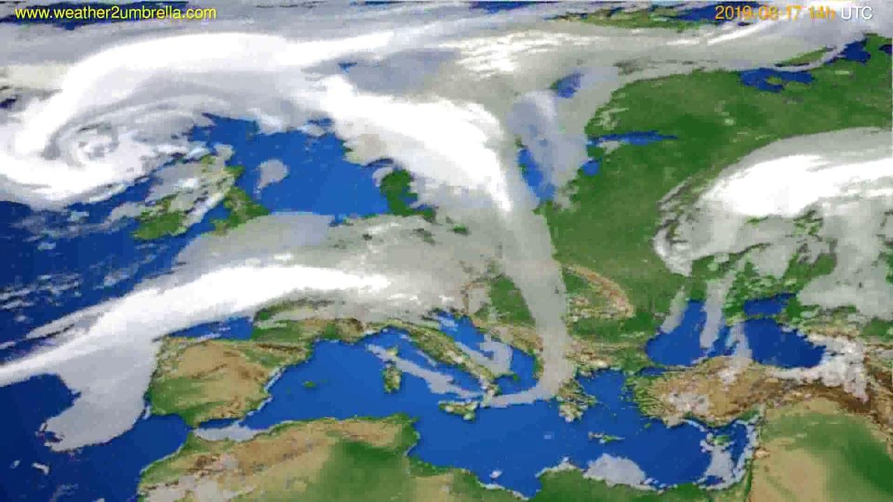 Cloud forecast Europe // modelrun: 00h UTC 2019-08-15