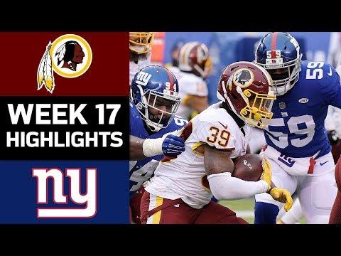 Video: Redskins vs. Giants | NFL Week 17 Game Highlights