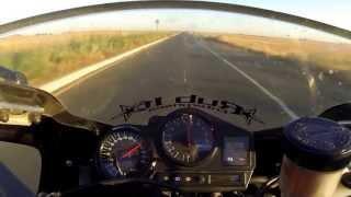 6. 99 CBR 900rr acceleration test 140+ MPH!!