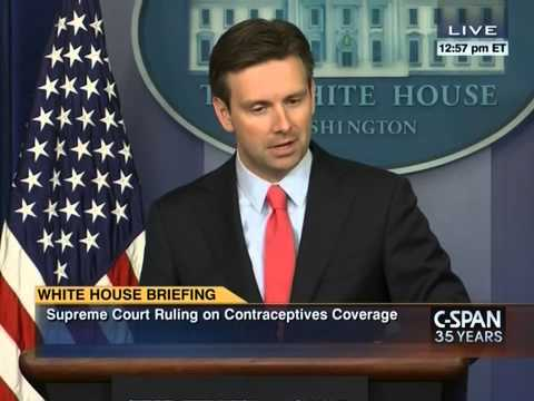SCOTUS - White House spokesman Josh Earnest pumps Obama's credentials as a constitutional lawyer.