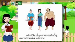 สื่อการเรียนการสอน การเดินทางของพลายน้อย ป.6 ภาษาไทย