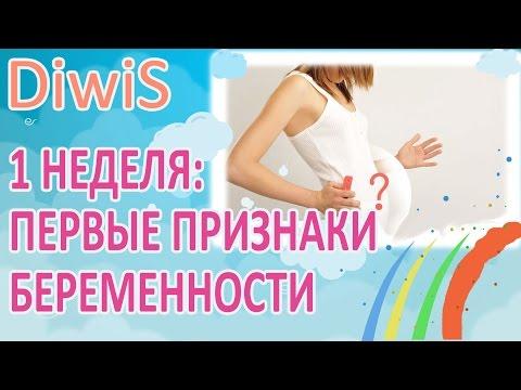 Первые признаки беременности срок 1 неделя