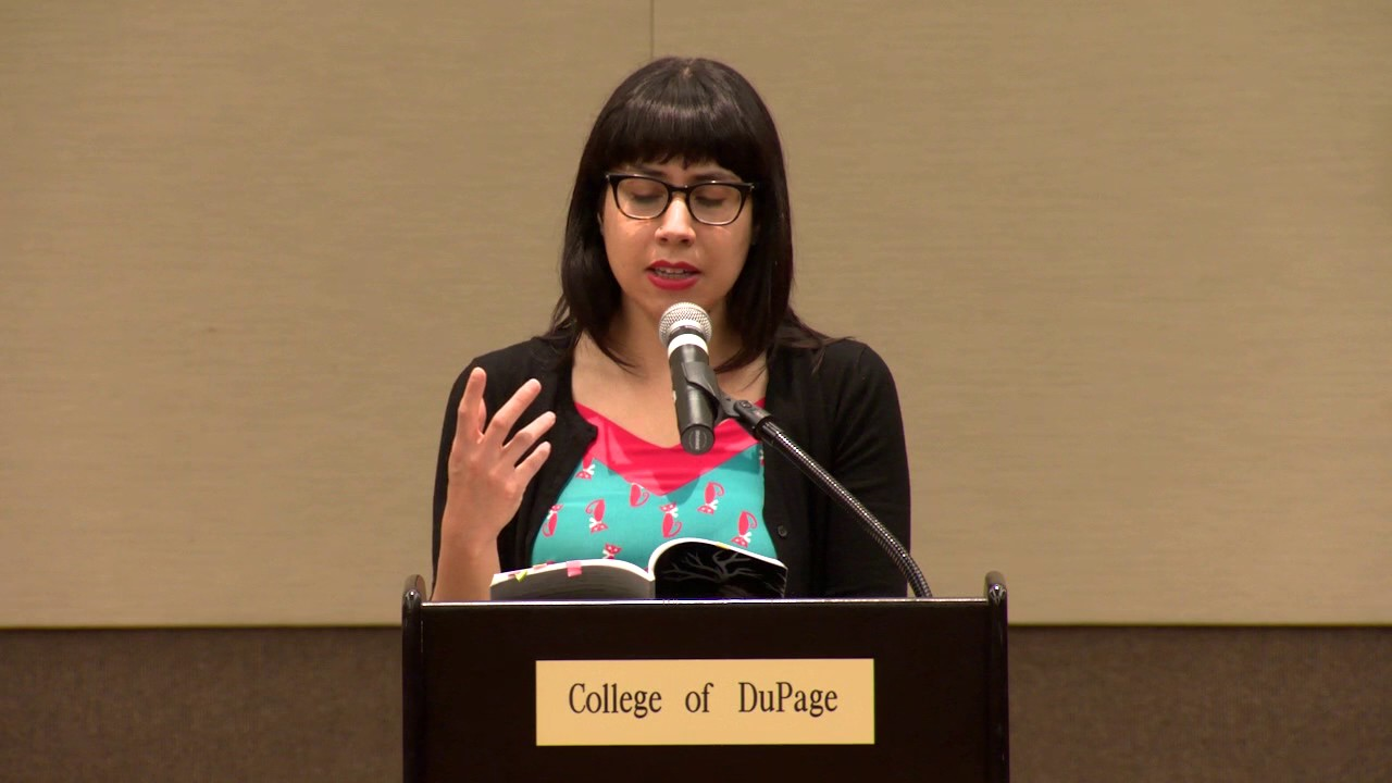 Erika L. Sánchez at the College of DuPage