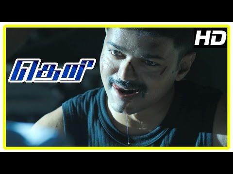Theri Movie | Vijay - Mahendran Mass scene | Samantha | Amy Jackson | Rajendran | Baby Nainika