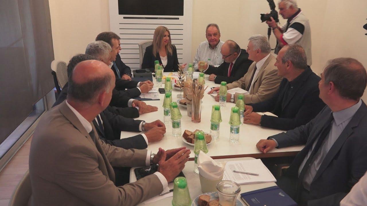 Συνάντηση Φ, Γεννηματά με αντιπροσωπεία της ΓΣΕΒΕΕ και της ΕΣΕΕ