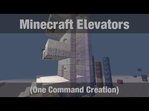 Elevators In Minecraft One Command Creations - Minecraft teleport player command block