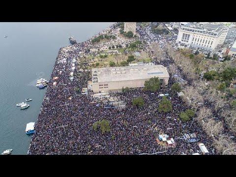 Μαζικό και με παλμό το συλλαλητήριο της Θεσσαλονίκης