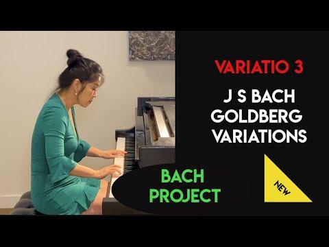 Lisa Ruping Cheng, Bach Goldberg Variations BWV 988: Variatio 3  鄭如蘋,哥德堡變奏曲-變奏三