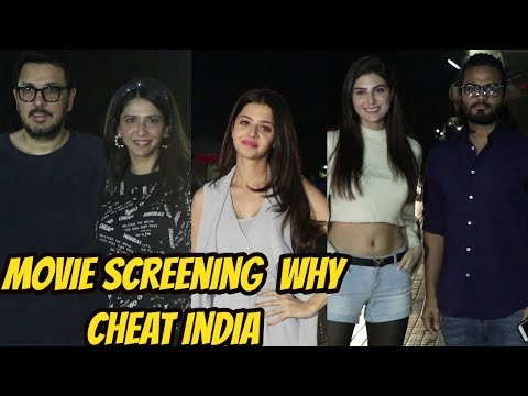 Emraan Hashmi, Shreya Dhanwanthary, Ammar Taalwala at SPECIAL SCREENING OF MOVIE WHY CHEAT INDIA