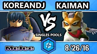 Korean DJ (Marth) Vs. Kaimen (Fox) – Shine 2016