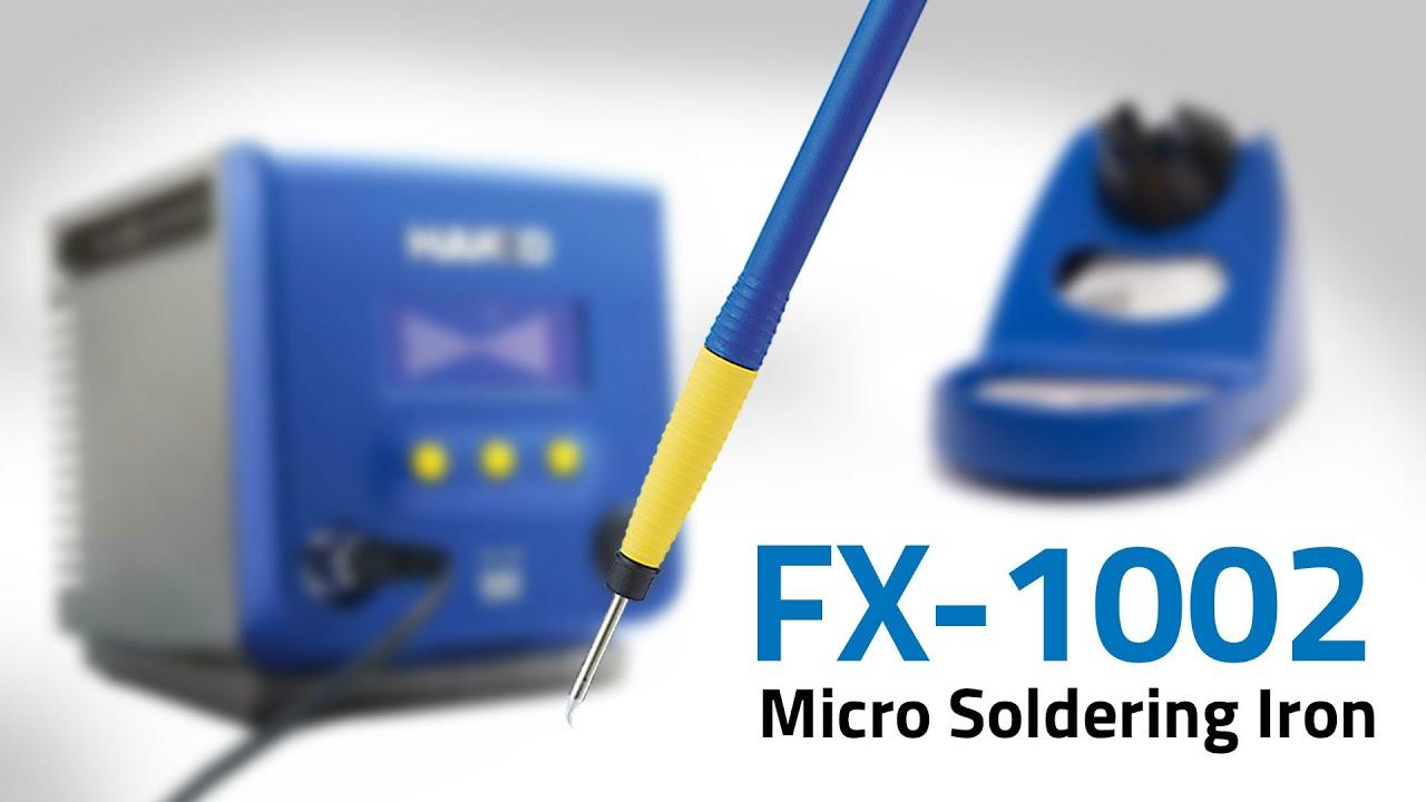 HAKKO FX-1002 Micro Soldering Iron — Video by American Hakko