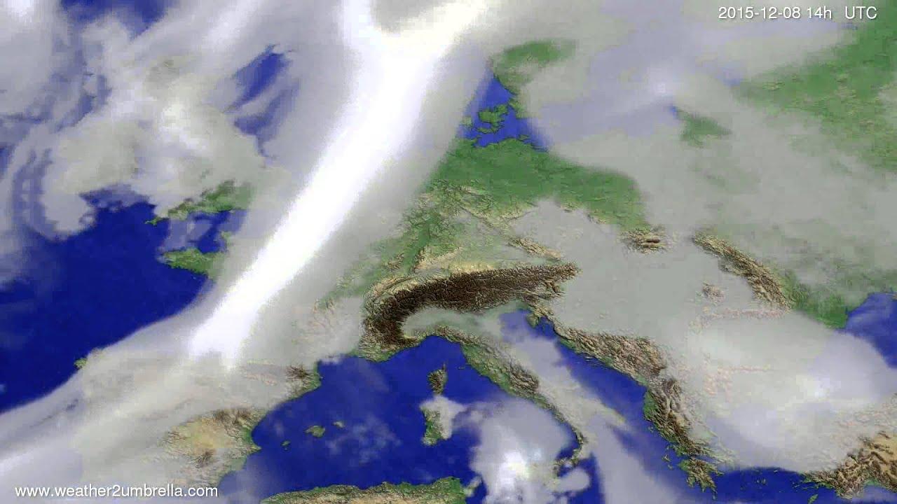 Cloud forecast Europe 2015-12-04