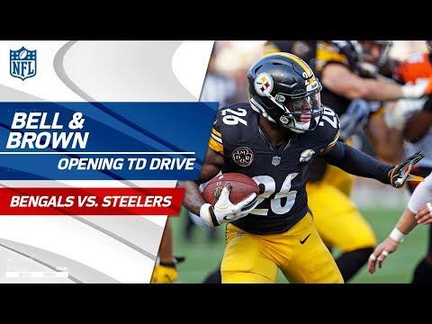 Video: Le'Veon Bell & Antonio Brown Lead Pittsburgh on Opening TD Drive! | Bengals vs. Steelers | NFL Wk 7