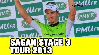 Peter Sagan Green At Stage 3: Tour De France 2013