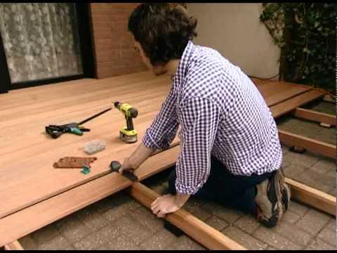 comment poser spot terrasse bois