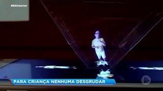 Professor de Piraju cria holografia para prender atenção dos alunos
