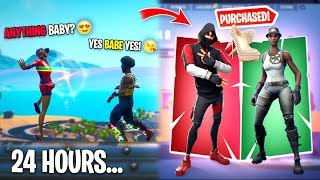 I Purchased this Weird Girl EVERY FORTNITE Skin she wanted for 24 hours... SORRY Miss Thotiana