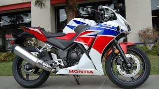 7. 2015 Honda CBR300R Pearl White Red Blue