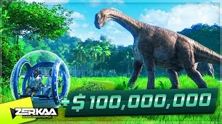 WE MADE $100,000,000 FROM OUR DINOSAUR PARK! (Jurassic World Evolution #11)