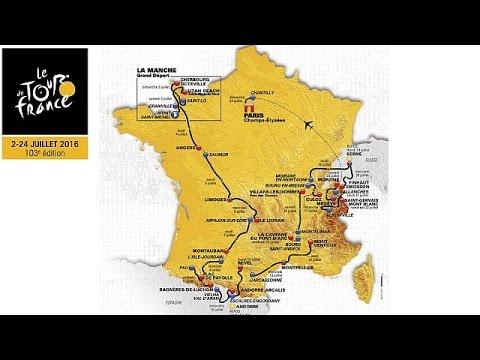 Όλη η διαδρομή του Tour de France 2016