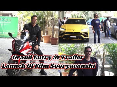 Grand Entry At Trailer Launch Of Film Sooryavanshi With Star Cast