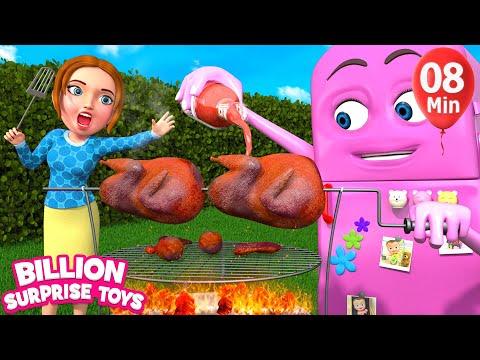 Baby Refrigerator food Song | BillionSurpriseToys Nursery Rhyme & Kids Songs