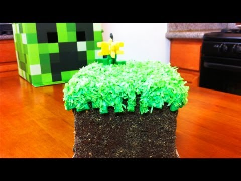 nerdy - Today I made a Minecraft Grass Block cake using fondant. I really enjoy making nerdy themed goodies and decorating them. I'm not a pro, but I love baking as ...