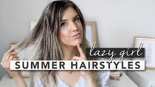 Hey guys, today's tutorial is 3 hairstyles for those lazy summer days! Sometimes the last thing you want to think about it styling your hair so each of these hairstyles only takes a few minutes and you're good to go. These hairstyles are great for fine hair and completely effortless! 1. A loose half french braid2. Half up with a beret clip3. Messy bun with a scarfI got my scarf a few years ago but here's a similar one: http://bit.ly/2tUZ6vCE xx ( http://erin-elizabeth.ca )Hi! My name is Erin and I make lifestyle videos! Make sure to subscribe because I upload every single Thursday and Sunday :)Thursdays: LifestyleSunday: StyleIf you enjoy my content then make sure you sign up for some monthly inspiration: http://bit.ly/2iPo7jR ··················································································································Let's be friends :)TWITTER: http://www.twitter.com/eringrahammINSTAGRAM: http://www.instagram.com/erinelizabethhFACEBOOK: https://www.facebook.com/erinelizabet...PINTEREST: https://www.pinterest.com/erinngraham/ SNAPCHAT: eringrahammContact:blogerinelizabeth@gmail.comCamera I use: http://amzn.to/2lCW5Ju