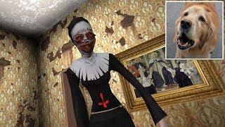 KOPI!! WHY ARE U BARKING?!   Evil Nun (Mobile Horror Game)