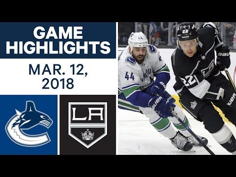 Video: NHL Game Highlights | Canucks vs. Kings - Mar. 12, 2018