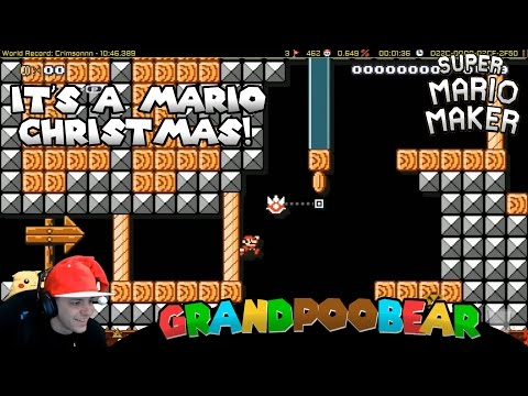 Mario Maker: Brought To You By Snapback Santa (видео)