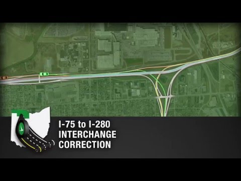 Toledo I-75 to I-280 Interchange Construction