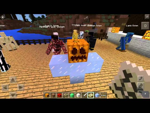 how to make all golems in minecraft pe