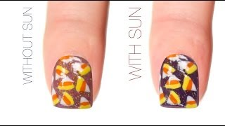 Candy Corn Dotticure Color-Changing Nail Art Design
