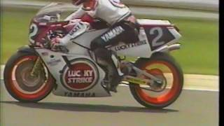 "A video from the 1986 8 Hours of Suzuka. This is the year Yamaha gave Roberts $750k to race the event, and his leathers sponsor gave him $500,000. A good bit of the Team Roberts GP team budget was ""assisted"" by him racing this event.Either the EXUP or the FIVE Valve went kablooey."