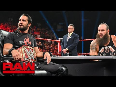 The O.C. interrupt contract signing between Seth Rollins and Braun Strowman: Raw, Sept. 2, 2019