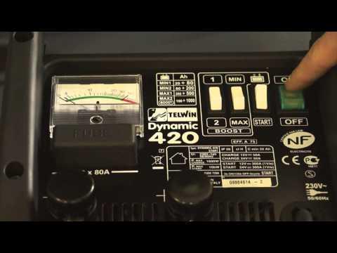 Štartovací vozík a nabíjačka akumulátorov, 12V, 24V, 1.6-10kW 829382