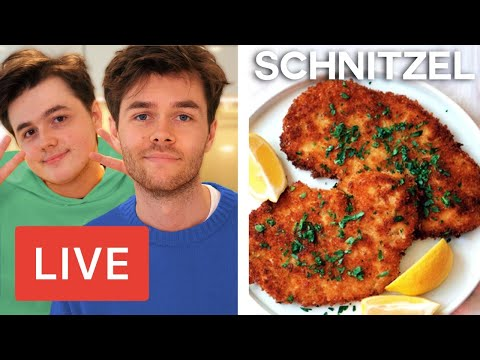Webb Brothers Cooking for Corey | Schnitzel LIVE from the Kitchen #3