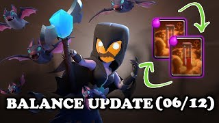 New Balance Update coming June 12th! Night Witch, Bats Tornado, Goblin Gang, Skeletons and Bats NERFED! Heal, Poison ...