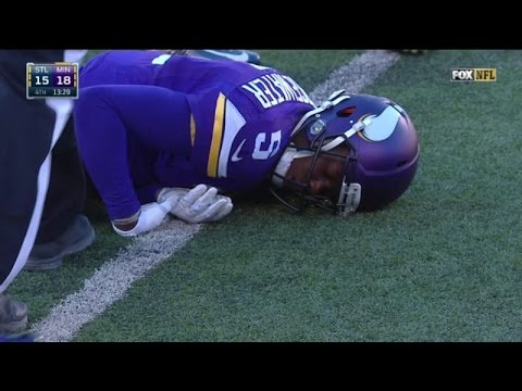 Teddy Bridgewater Knocked Out by Joyner cheapshot HD
