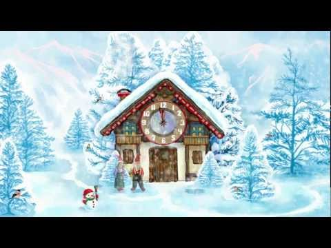 Video of Christmas House Clock widget