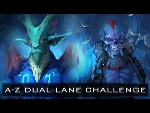 Dota 2 A-Z Dual Lane Challenge - Leshrac and Lich
