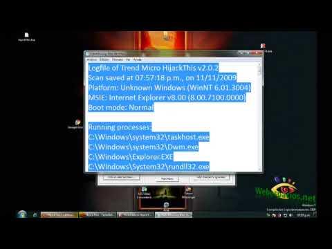 Video 0 de HiJackThis: Cómo utilizar HiJackThis