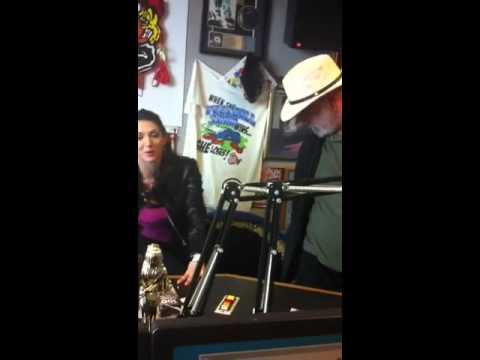 Tim Wilson in WKQQ Studios meeting TV star Taya Parker