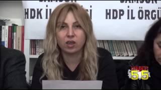 SAMSUN'DA HDP,  ''AKP YOLSUZLUKLARI KİRLİ SAVAŞLA ÖRTEMEZ ''