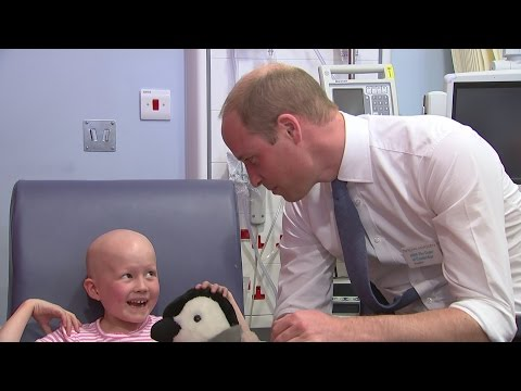 Prince William helps care for six-year-old cancer patient