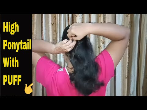 High Ponytail with Front Puff  Ponytail Hairstyles  Easy Hairstyles  Cute Hairstyles  Puff