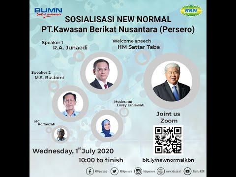 Webinar Sosialisasi Protokol New Normal PT. KBN (Persero)