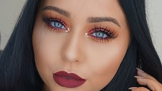 DRUGSTORE Red & Berry Fall Makeup Tutorial