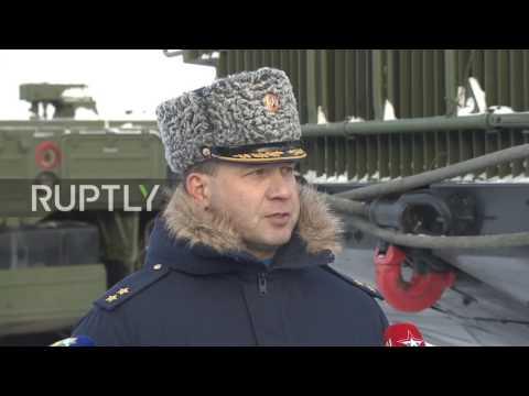 Постановка на боевое дежурства нового зрп С-400 в Московской области